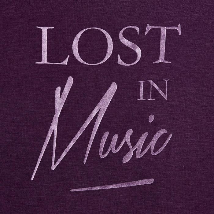 Women's Short Modern Dance T-Shirt - Purple