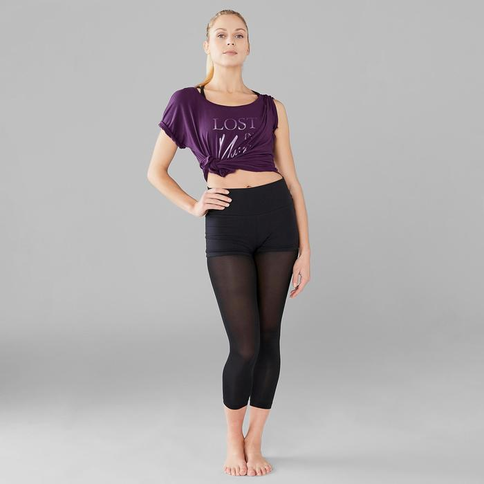 Dance-Shirt kurz Modern Dance Damen lila
