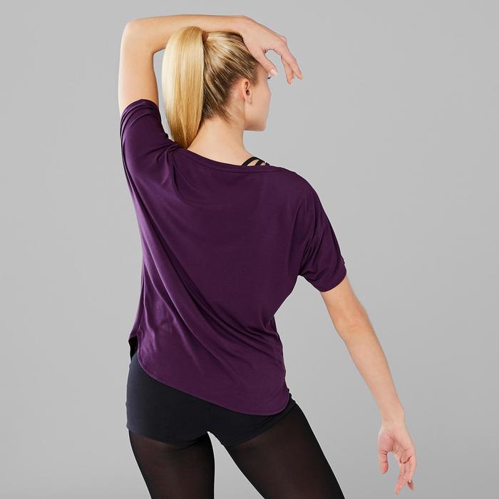 Tee-shirt court de danse moderne femme violet