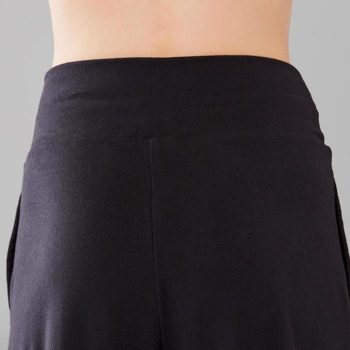 Tanzhose mit elastischem Taillenbund und Beinabschlüssen Kinder schwarz