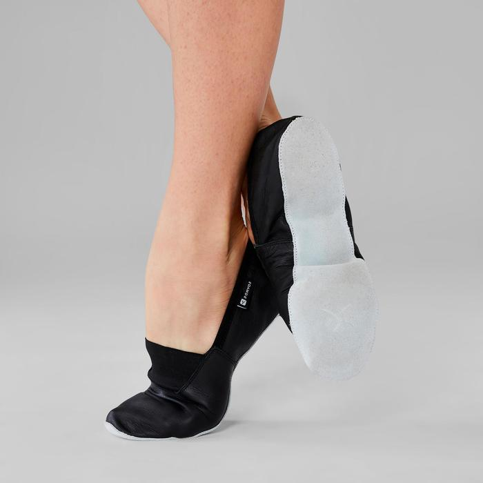 Zapatillas de danza moderna de piel flexible T. 30-40