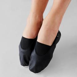 Zapatillas de danza moderna de piel flexible negro