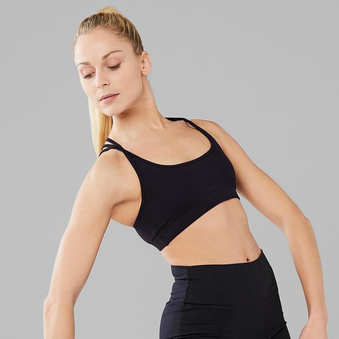 Tanz-Bustier mit dünnen Trägern Modern Dance Damen schwarz