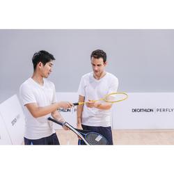 Badmintonracket BR100 Set Starter voor volwassenen geel/blauw