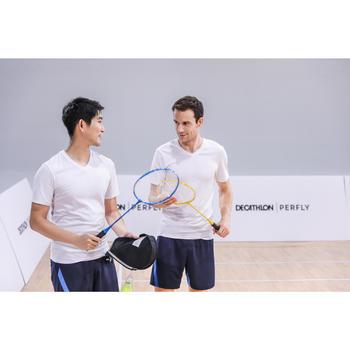Badmintonrackets in set voor volwassenen BR100 geel/blauw