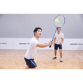 Badmintonschläger BR 100 Set Starter Erwachsene gelb/blau