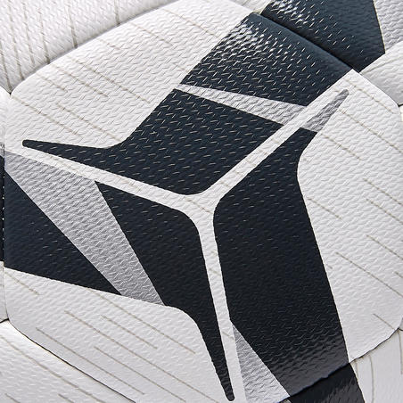 F500 Hybrid Football Ball Size 5 - White/Black/Silver