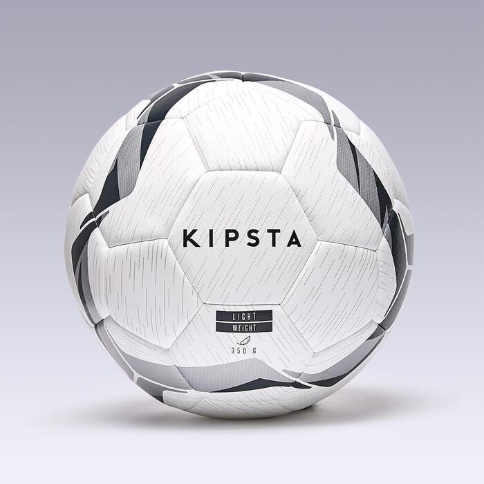 Balón de fútbol híbrido F100 light talla 5 blanco negro plata