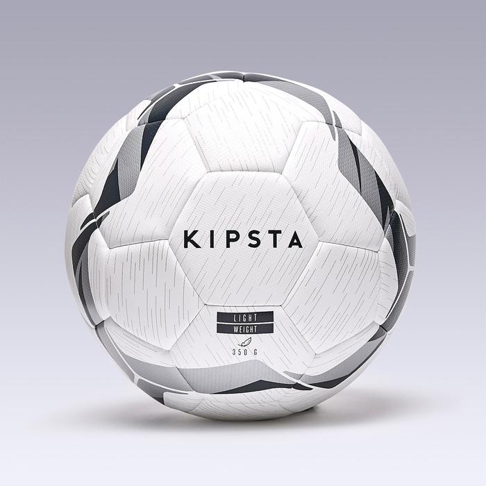 Ballon de football F500 Hybride light taille 5 blanc noir argent