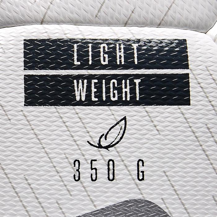 Voetbal F100 hybride light maat 5 wit zwart zilver
