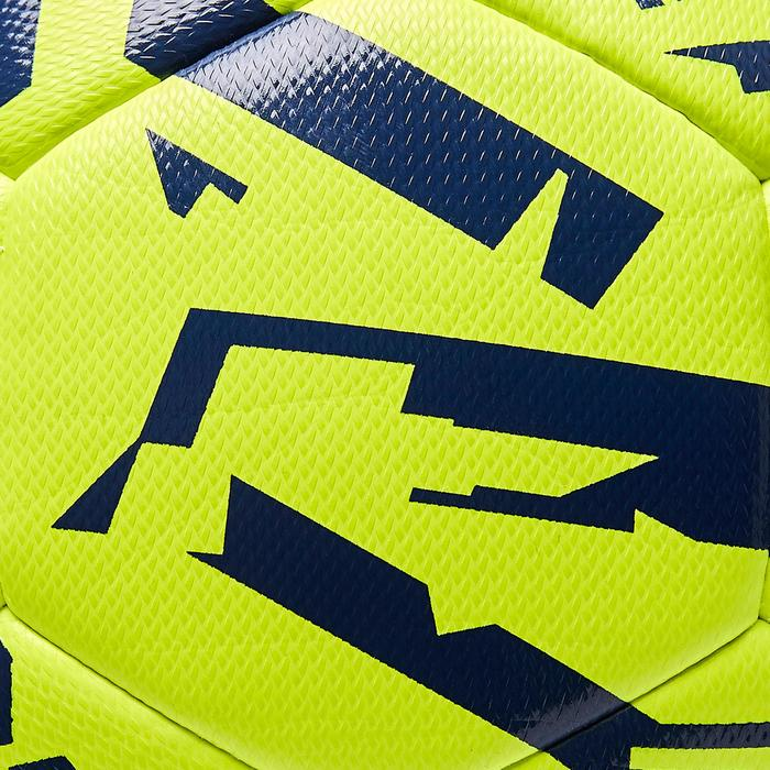 Voetbal F100 Light hybride maat 5 graphic geel blauw