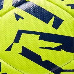 Voetbal F500 Light hybride maat 5 geel blauw print