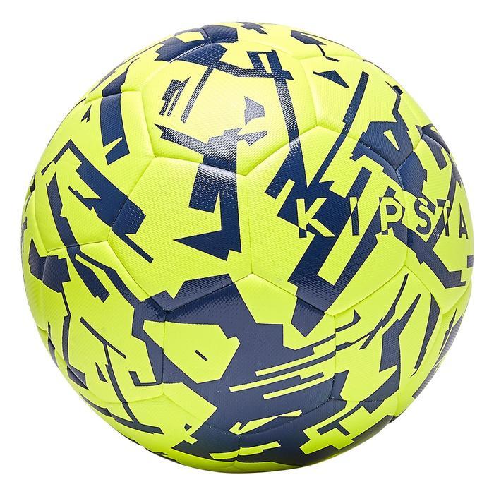 Voetbal F100 hybride light maat 5 graphic geel/blauw