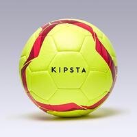 Hybrid Size 5 Football F500 Light - Yellow/Purple