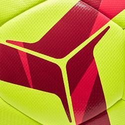 Voetbal F100 hybride light maat 4 geel/rood