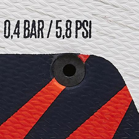 F100 Bola Sepak Hybrid Ringan Ukuran 4 - Putih/Oranye/Biru