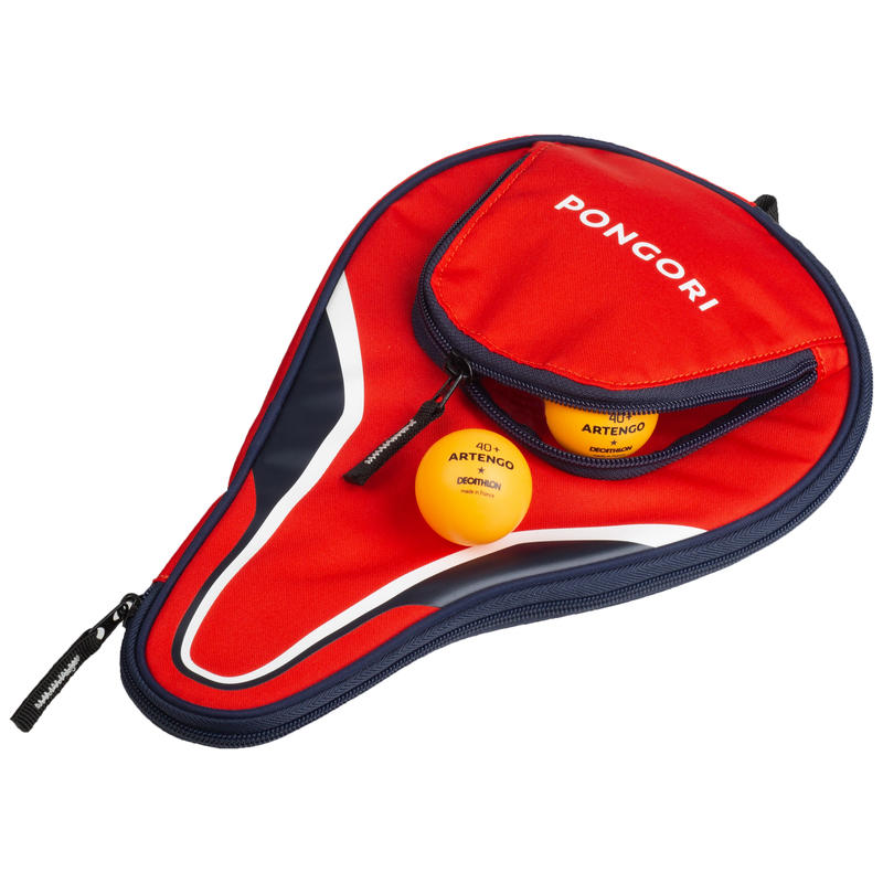 TTC 130 Table Tennis Bat Cover - Red