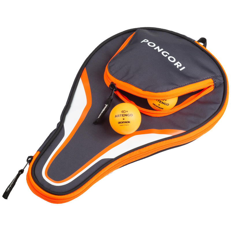 TTC 130 Table Tennis Bat Cover - Grey/Orange
