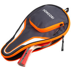 TTC 130 Table Tennis Paddle Cover - Grey/Orange