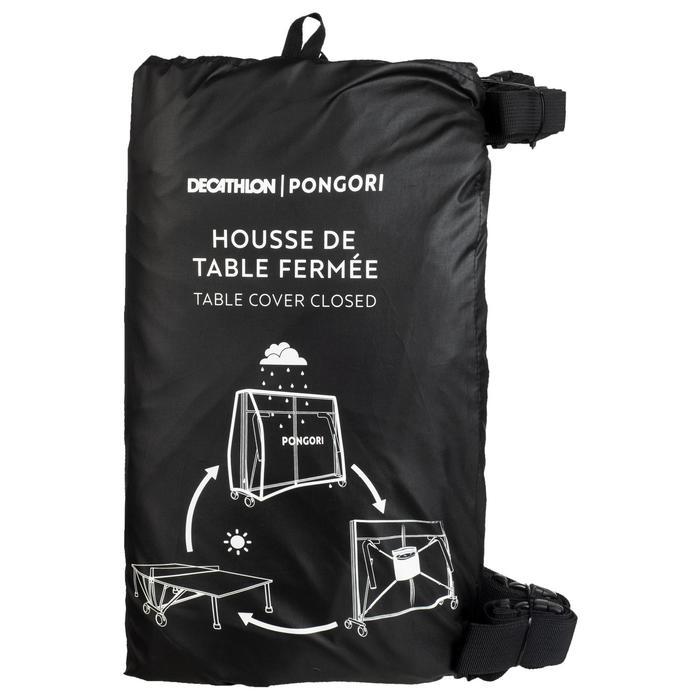 HOUSSE DE TABLE DE PING PONG POUR TABLE REPLIÉE NOIRE