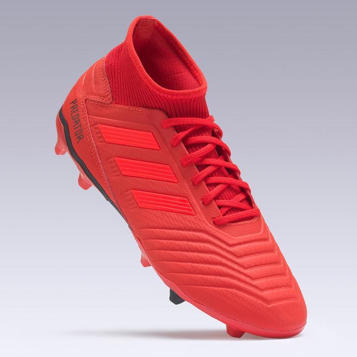Voetbalschoenen voor volwassenen Predator 19.3 FG rood