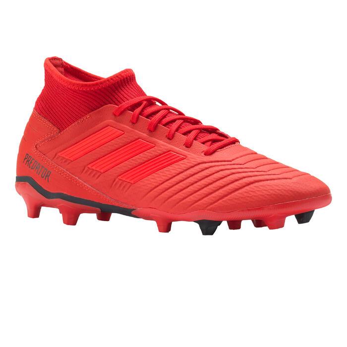 Botas de fútbol adulto Predator 19.3 FG rojo Adidas  a671947f17095