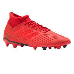Botas de fútbol adulto Predator 19.3 FG rojo