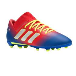 Botas de fútbol júnior Messi 18.3 FG rojo. Adidas 702b88323d241