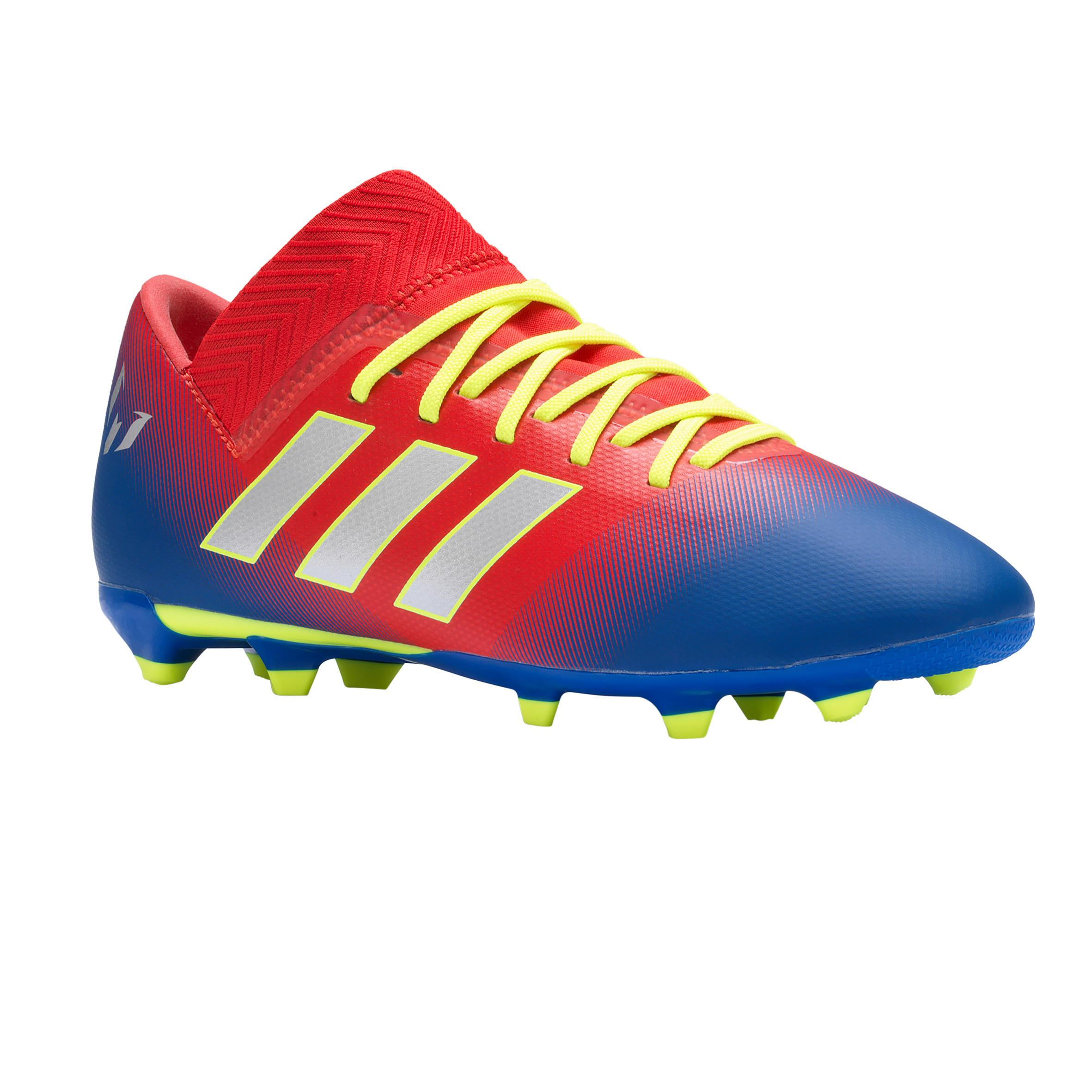 Adidas Voetbalschoenen kind Nemeziz Messi 18.3 FG rood/blauw