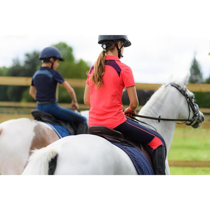 Pantalón equitación niños 100 LIGHT azul marino y rosa
