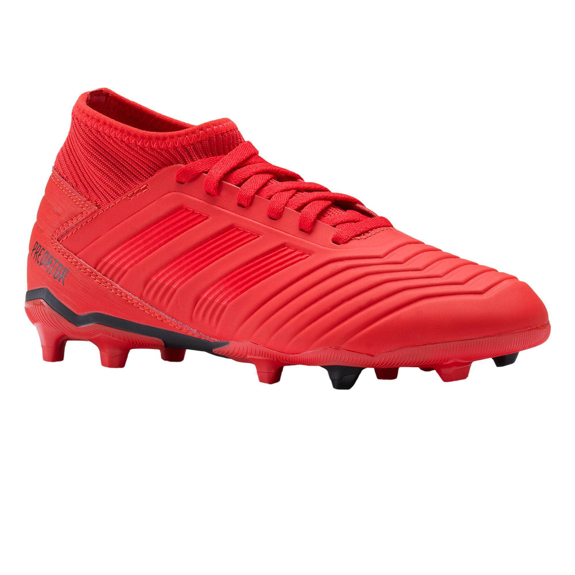 Predator 19.3 FG J voetbalschoenen rood