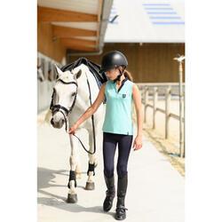 Pantalón equitación niños 100 LIGHT azul marino y azul turquesa