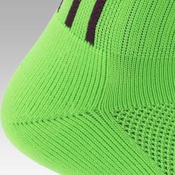 Chaussette de football adulte F500 vert et violet