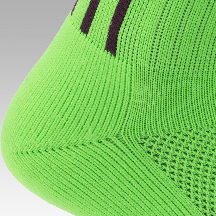Voetbalkousen voor volwassenen F500 groen/paars