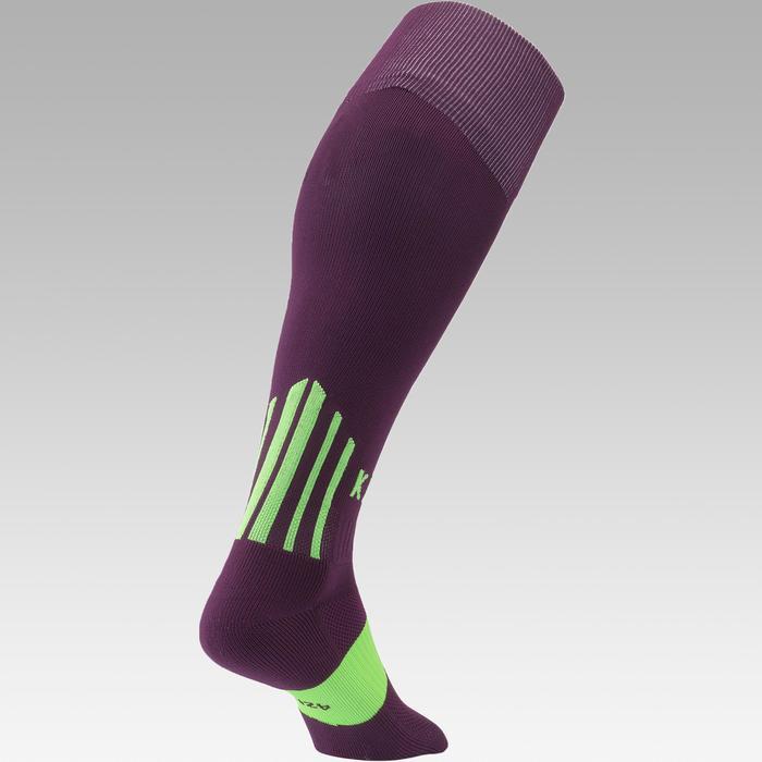 Voetbalsokken / voetbalkousen F500 paars/groen