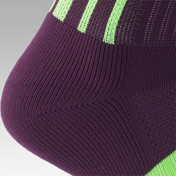 Chaussette de football adulte F500 violet et vert
