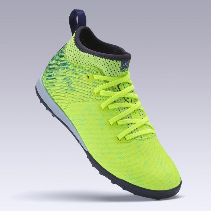 Chaussure de football enfant terrains durs Agility 900 HG jaune fluo