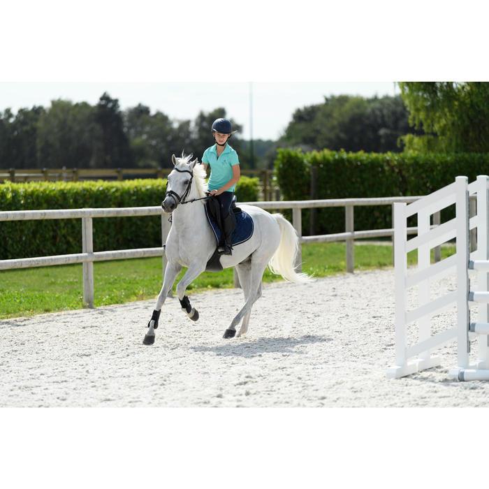 Débardeur équitation fille 100 turquoise et marine