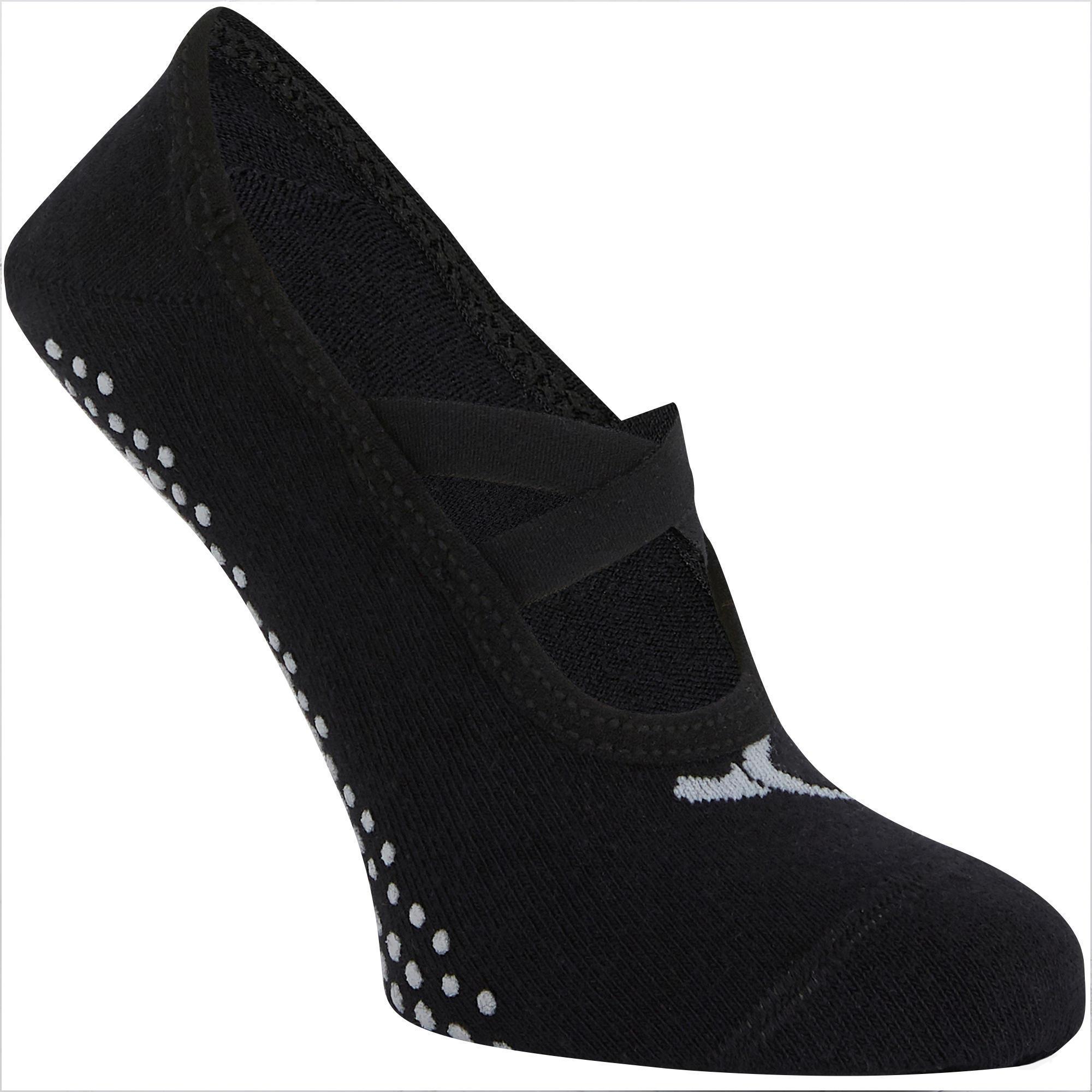 sale retailer ddbc4 8ec23 Abbigliamento donna - Calze antiscivolo donna gym pilates 500 nere