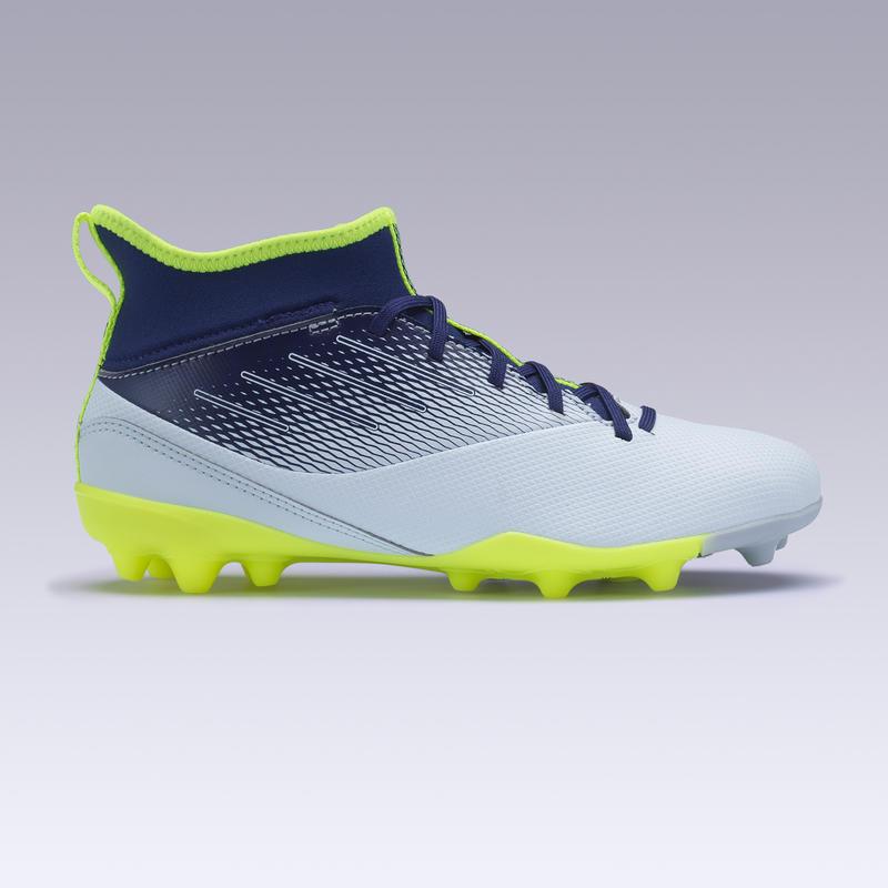 Kids' Football Boots Agility 500 MG - Grey/Blue