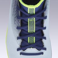 Chaussure de soccer enfant AGILITÉ 500 montante semelle MG gris et bleu