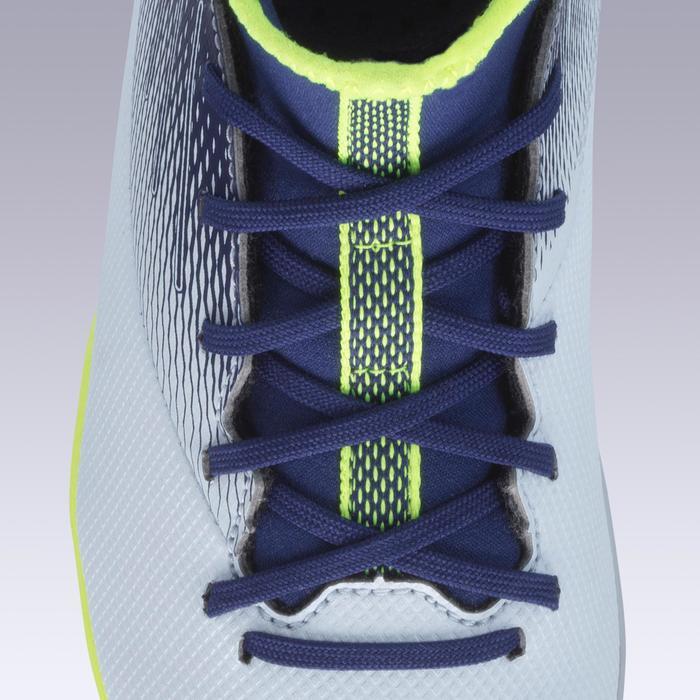 Voetbalschoenen kind Agility 500 MID MG grijs/blauw