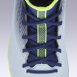 Voetbalschoenen voor kinderen Agility 500 hoog MG zool grijs en blauw