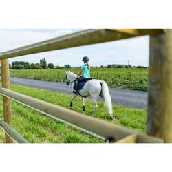 Paardrijlegging voor kinderen 100 Light ruitersport marineblauw en turquoise