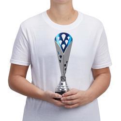 Pokal T511 silber/blau 31 cm