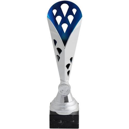 Trophée argent bleu 31 cm