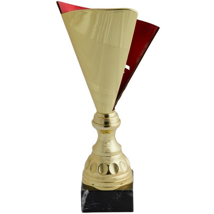 Pokal T537 gold/rot 35 cm