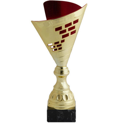 Trophée or rouge 35 cm