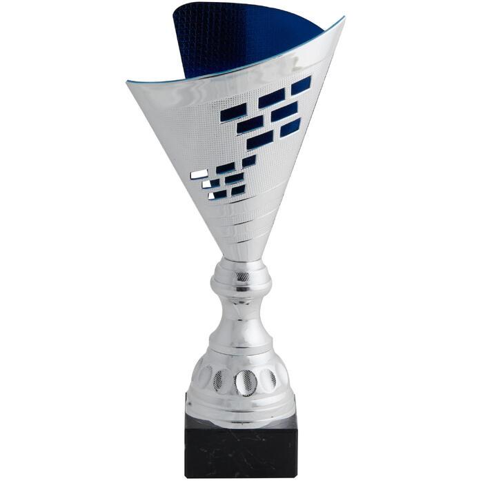 Pokal T537 silber/blau 35 cm