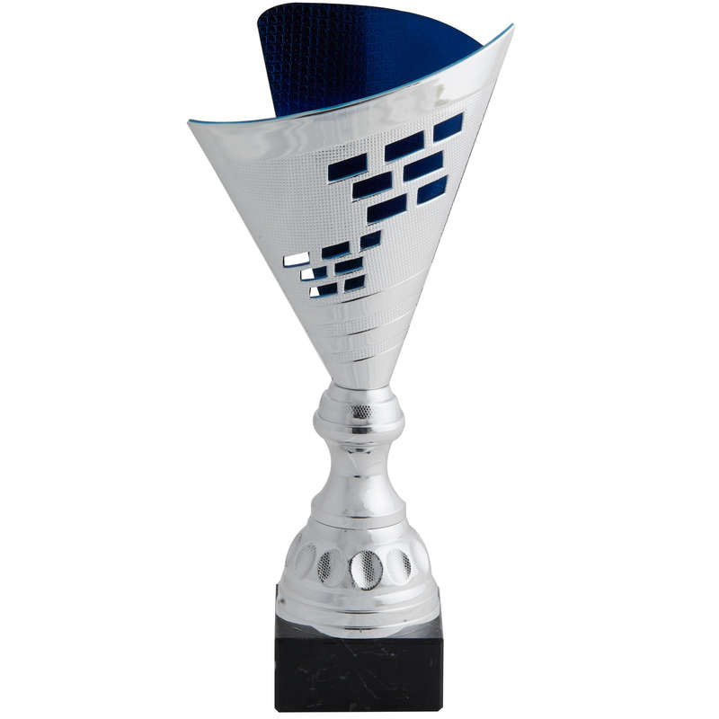 CUPS Medals and Trophies - Trophy 35 cm T537 Silver/Blue WORKSHOP - Accessories